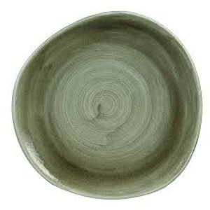 Churchill Servies Stonecast Patina Burnished Green Round Trace Plate 21cm