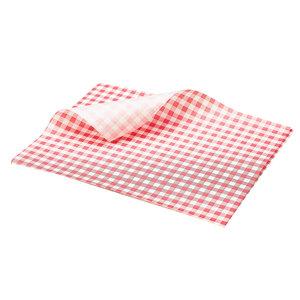 Non Food Company Vetvrij papier rood geblokt 25 x 20 cm 1000st