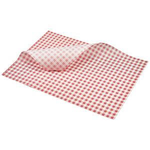 Non Food Company Vetvrij papier rood geblokt 35 x 25 cm 1000st
