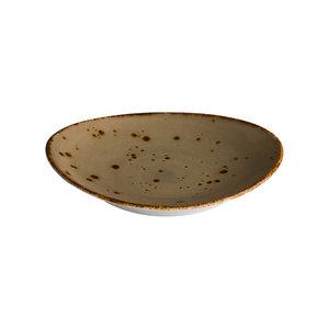 Q Authentic Ovaal bord reactive sand 30 x 25,5 cm