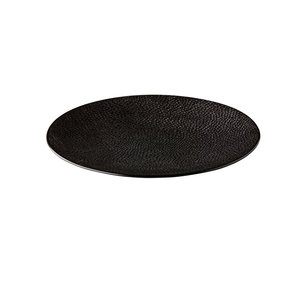 Q Authentic Coupe bord Honeycomb Black 27,5 cm