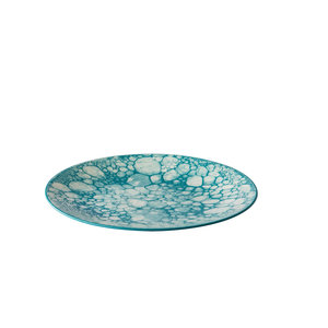 Q Authentic Bord Bubble turquoise 27,5 cm