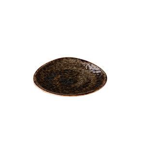Q Authentic Jersey bord driehoek bruin 21 cm