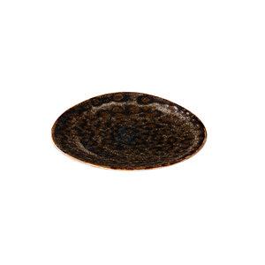 Q Authentic Jersey bord driehoek bruin 17 cm