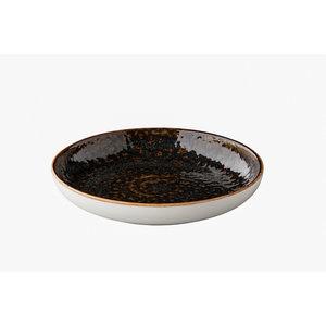 Q Authentic Jersey diep rond bord bruin 23,5 cm