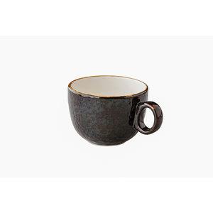 Q Authentic Jersey latte koffiekop stapelbaar bruin 350 ml