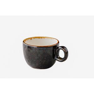 Q Authentic Jersey koffiekop stapelbaar bruin 160 ml