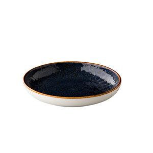 Q Authentic Jersey diep rond bord blauw 23.5 cm