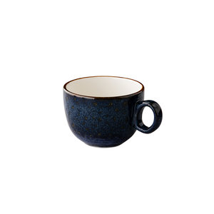 Q Authentic Jersey latte koffiekop stapelbaar blauw 350 ml
