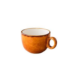 Q Authentic Jersey latte koffiekop stapelbaar oranje 350 ml