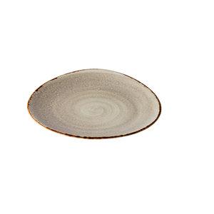 Q Authentic Jersey bord driehoekig grijs 27 cm
