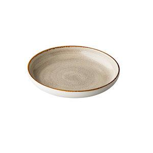 Q Authentic Jersey diep rond bord grijs 23,5 cm