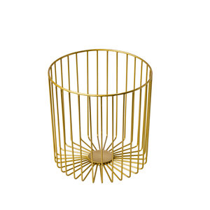 Non Food Company Stalen stokbroodhouder goud 23x23x23 cm