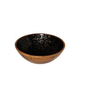 Non Food Company Houten kom zwart Ø25x7,5 cm