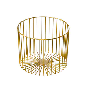 Non Food Company Stalen stokbroodhouder goud 28x23x28 cm