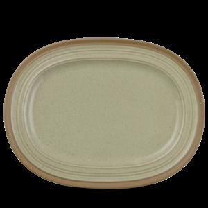 "Art de Cuisine Igneous  Oval Plate 14X10.5"" Box 6"
