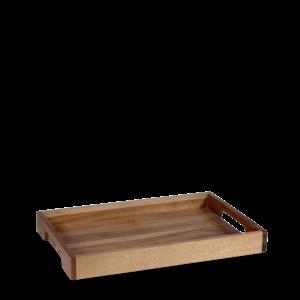 Churchill Wood Solid Base Handled Tray 25,8x39,7cm