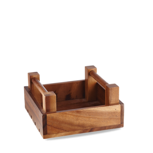 Churchill Servies Wood Sq Crate 20x20x10cm