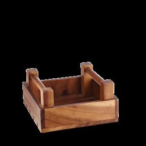 """Churchill Servies Wood  Sq Crate 7 7/8X7 7/8X3 7/8"""" Box 4"""