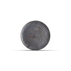 F2D F2D | Brass Plat Bord 20cm gehamerd Silver