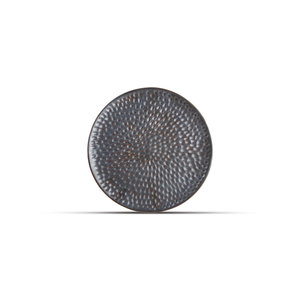 F2D F2D | Brass Plat bord 20cm Silver Hammered
