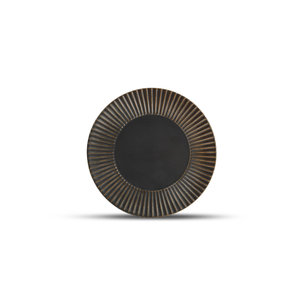 F2D F2D | Brass Plat bord 21cm gestreept silver
