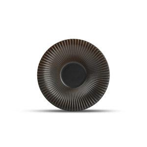 F2D F2D | Brass Diep bord 26xH5,5cm gestreept silver