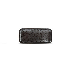F2D F2D | Oxido Plat bord 22x10cm rechthoekig black
