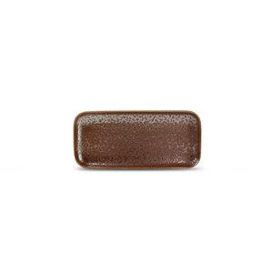 F2D F2D | Oxido Plat bord 22x10cm rechthoekig rusty