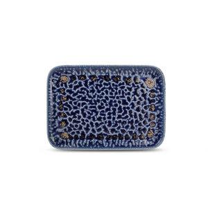 F2D F2D | Oxido Plat bord 28x20cm rechthoekig cobalt