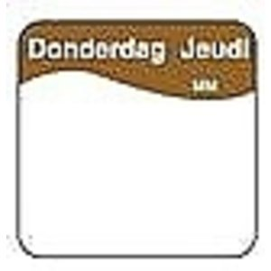 Daymark Makk. verwijderb. sticker donderdag 25 mm 1000/rol