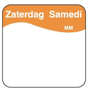 Daymark Makk. verwijderb. sticker zaterdag 25 mm 1000/rol
