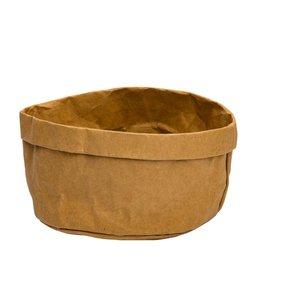 Non Food Company Broodmand papier wasbaar bruin 18 x 18 x 15