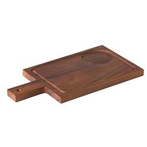 Non Food Company Acacia plank met handvat incl inkeping voor kom