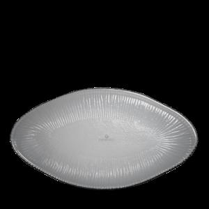 Churchill Dusk Glass Oval Bamboo Platter 30cm