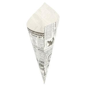 "Non Food Company Presentatiepoint Vetvrij papier puntzak ""Times"" 29,5x21cm 250-pak"
