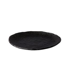 Q Raw Design Bord Oyster zwart 27cm