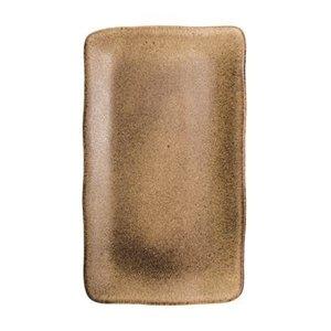 Q Authentic Q Authentic Stone Brown rechthoekig bord 35 x 21cm