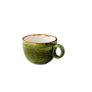 Q Authentic Jersey latte koffiekop stapelbaar groen 350 ml