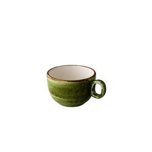 Q Authentic Jersey cappuccino kop stapelbaar groen 200 ml