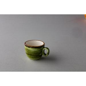 Q Authentic Jersey espresso kop stapelbaar groen 80 ml