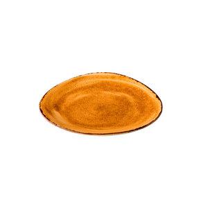 Q Authentic Jersey bord driehoekig oranje 27 cm