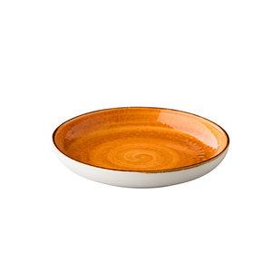 Q Authentic Jersey diep rond bord oranje 26.5 cm