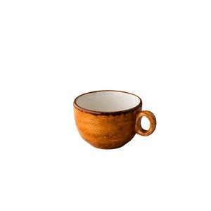 Q Authentic Jersey cappuccino kop stapelbaar oranje 200 ml