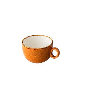 Q Authentic Jersey koffiekop stapelbaar oranje 160 ml