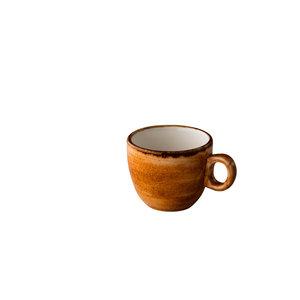 Q Authentic Jersey espresso kop stapelbaar oranje 80 ml