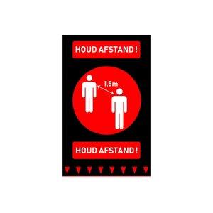 Non Food Company NFC | Vloermat 'Houd Afstand + Logo' 90 x 150cm