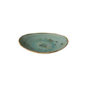 Q Authentic Ovaal bord reactive blue 21,5 x 19 cm