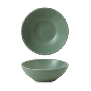 Churchill Andorra Green Contour Shallow Bowl 11.7x3.8cm