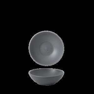 Churchill Seattle Grey Contour Shallow Bowl 11.7x3.8cm
